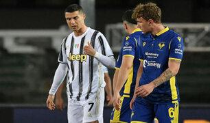 CR7 logró empatar con Hellas Verona, pero dejó escapar dos puntos