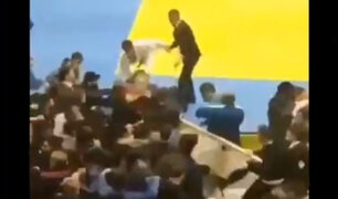 Rusia: combate infantil de judo termina en batalla campal