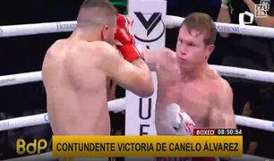 """Mexicano """"Canelo"""" Álvarez logra contundente victoria y retiene sus títulos en box"""