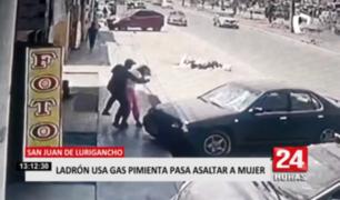 Ladrón utiliza gas pimienta para asaltar a mujer en San Juan de Lurigancho