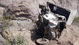 Madre e hijo fallecieron tras despiste de volquete en Arequipa