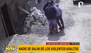 SJL: cámaras de seguridad captan constantes robos en diferentes calles