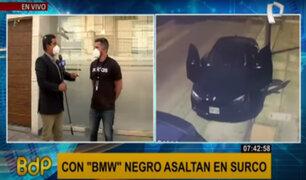 Surco: delincuentes utilizan moderno auto para asaltar a plena luz del día