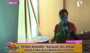 D´Mañana: alcalde del Rímac entregó víveres y agua a madres de olla común Misky Mikuy