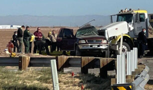 California: al menos 15 muertos deja accidente entre camión y auto