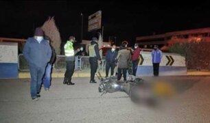 Dos muertos dejó despiste de motocicleta en la ciudad de Juliaca