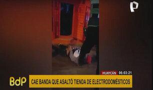 Huaycán: cae banda que asaltó tienda de electrodomésticos durante toque de queda