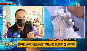 Grupo de transportistas asegura que traerán 100 mil vacunas rusas contra la COVID-19