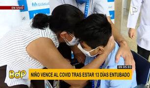 ¡Buena noticia! Niño que pasó entubado 13 días venció al COVID-19