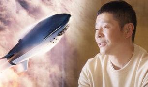 Multimillonario japonés sorteará 8 plazas gratis para acompañarlo a la Luna