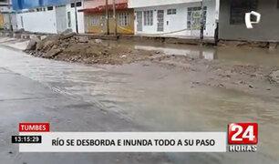 Tumbes: colapsa alcantarillado tras 8 horas continuas de precipitaciones