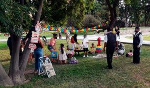 Surco: intervienen al menos a 20 personas por celebrar fiesta infantil en parque