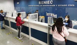 Elecciones 2021: Reniec priorizará impresión y entrega de DNI en espacios abiertos
