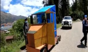 Huari: joven construyó vehículo con materiales reciclables