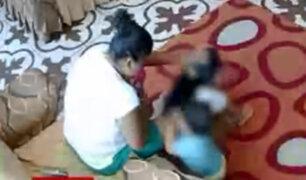 Niñera es captada agrediendo a niños que estaban bajo su cuidado en el Callao