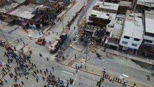 Villa El Salvador: Confiep entregó donaciones a 23 familias damnificadas por deflagración