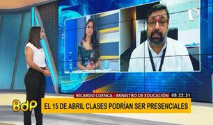 Año escolar 2021: Ministro Cuenca explica cómo se realizarán las clases semipresenciales