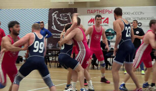 Regball: conozca el loco deporte que mezcla lucha libre con baloncesto
