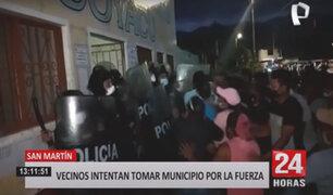 San Martín: intentan tomar municipio por supuestos actos de corrupción del alcalde
