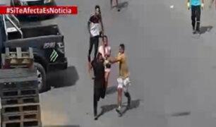 El Agustino: vecinos propinaron fuertes golpes a sujeto acusado de robar celular