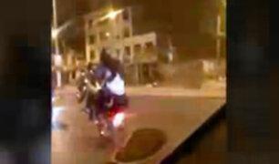 SMP: vecinos piden frenar piques ilegales de motos en pleno toque de queda