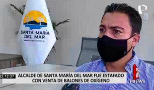 Alcalde de Santa María del Mar señala que fue estafado con compra de balones oxígeno