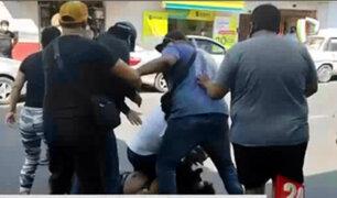 Tacna: candidato al congreso por Fuerza Popular se pelea en la calle