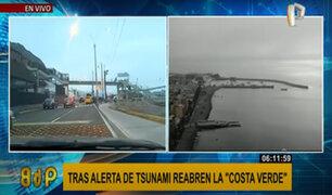 Alerta de tsunami: autoridades reabren la Costa Verde ante reducción de peligrosidad