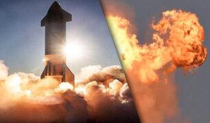 Impactantes imágenes deja la explosión del cohete de Spacex