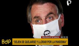 """Bolsonaro pide a su país que """"deje de llorar por la COVID-19"""" cuando superan los 260 mil fallecidos"""