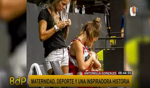 Basquetbolista se vuelve viral por amamantar a su bebé durante intermedio de un partido
