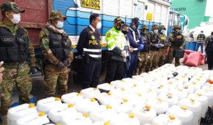 Decomisan dos toneladas de insumos para la elaboración de droga en el Vraem