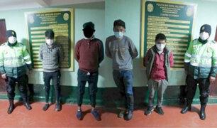 Cusco: detienen a tres adultos y un adolescente por presunto ultraje a una menor