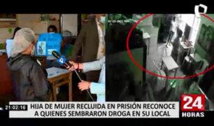 Familia reconoce a las autoridades que sembraron drogas en su local