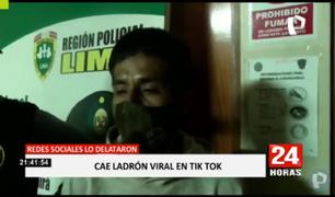 Detienen a delincuente que se viralizó en video de TikTok donde aparece robando