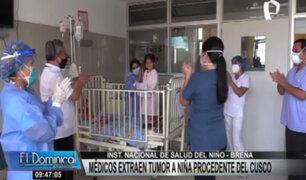 INSN-Breña: extraen con éxito tumor a niña de tres años
