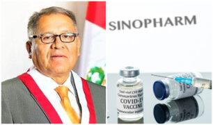 Congresista Erwin Tito pide suspender aplicación de vacuna de Sinopharm