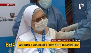 Seis monjas del convento 'Las Canonesas' son vacunadas: una de ellas tiene 103 años