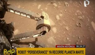 Perseverance realizó su primer recorrido en suelo de Marte en busca de vida