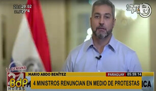 Paraguay: cuatro ministros renuncian tras protestas por colapso del sistema sanitario