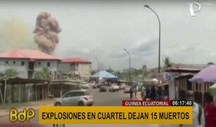 Guinea Ecuatorial: cadena de explosiones en arsenal militar deja 30 fallecidos