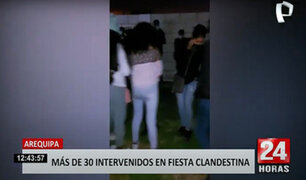 Arequipa: 32 jóvenes son intervenidos en una vivienda acondicionada como discoteca