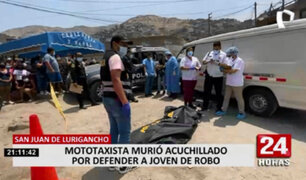 Mototaxista que se enfrentó a delincuente fue asesinado a cuchillazos en  SJL