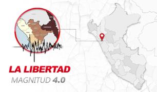 Reportan temblor de 4.0 de magnitud en La Libertad