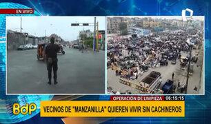 Municipalidad de Lima realiza operativo para erradicar ambulantes y cachineros en Manzanilla