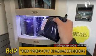 Japón vende pruebas COVID-19 en máquinas expendedoras