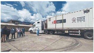 Entregan planta de oxígeno móvil para Huaraz por convenio entre Minsa y la ONU