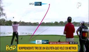 Bryson DeChambeau: golfista desafía a la física para ganar con tiro de 336 metros