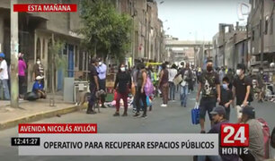 Pese a operativo, informales siguen vendiendo en los alrededores de la av. Nicolás Ayllón