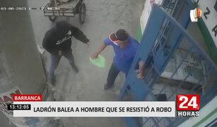 Barranca: delincuente dispara a hombre de 62 años que se resistió a robo